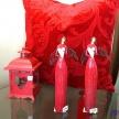 Soška Anjelik červený s bielym srdiečkom - 414034TRE