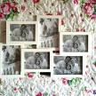 Rodinný fotorámik biely stredný -  93358ART